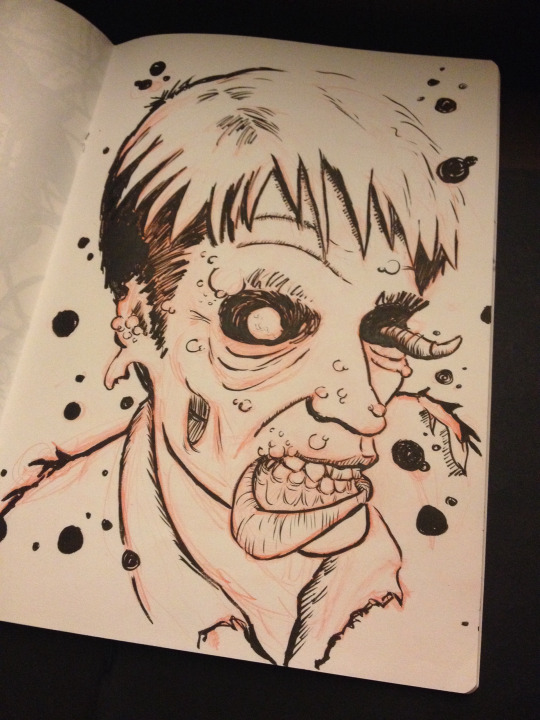 self portrait zombie ink